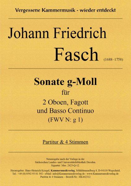 Fasch, Johann Friedrich – Sonate g-Moll (FWV N: g 1)