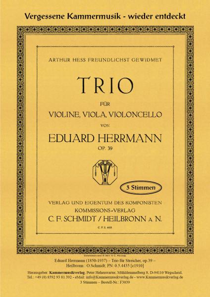 Herrmann, Eduard – Streichtrio, g-Moll, op. 39