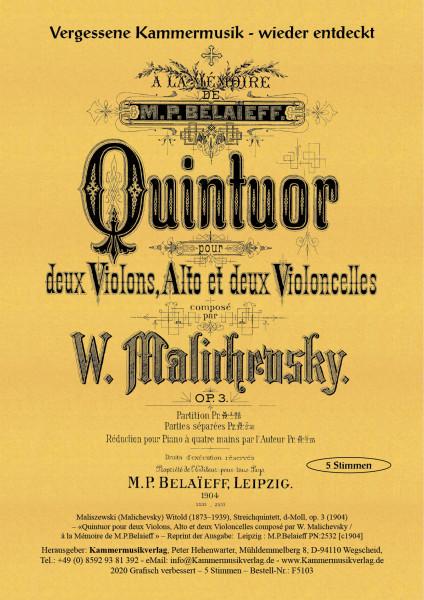 Maliszewski (Malichevsky), Witold, d-Moll, op. 3