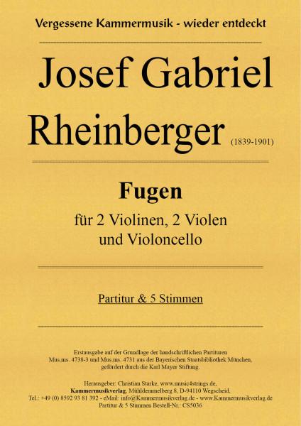 Rheinberger, Josef Gabriel – Fugen für Streichquintett (2Va)