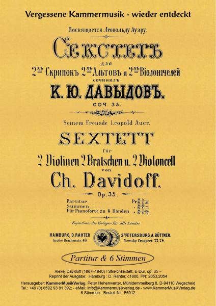 Davidoff, Karl (Charles) Julevic – Streichsextett, E-Dur, op. 35