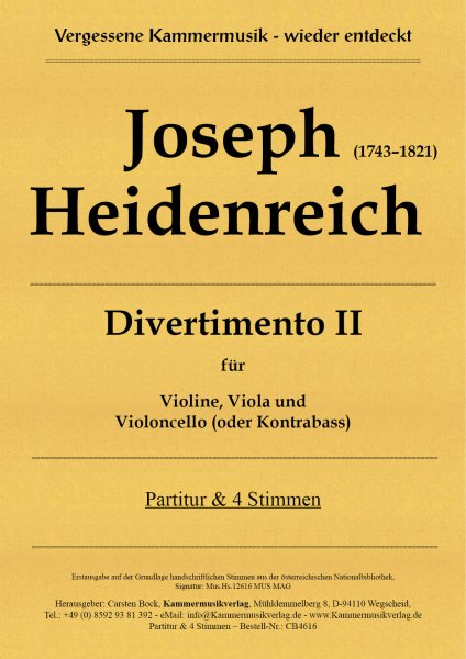 Joseph Heidenreich – Divertimento II