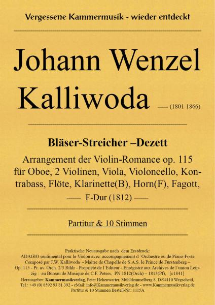 Kalliwoda, Johann Wenzel – Bläser-Streicher-Dezett (Oboen-Dezett), F-Dur, op. 115