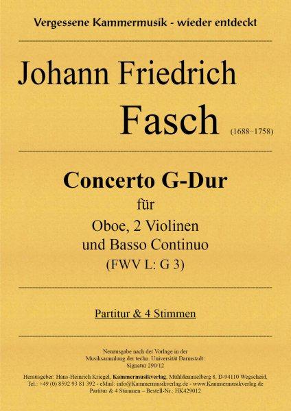 Fasch, Johann Friedrich – Concerto G-Dur (FWV L: G 3)