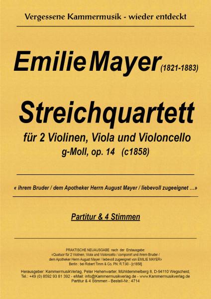 Mayer, Emilie – Streichquartett, g-Moll, op. 14