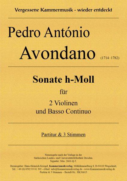 Avondano, Pedro António – Sonate h-Moll