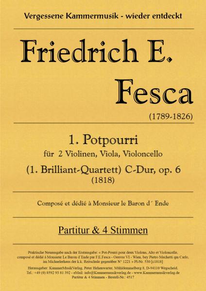 Fesca, Friedrich Ernst – Potpourri für Streichquartett Nr. 1