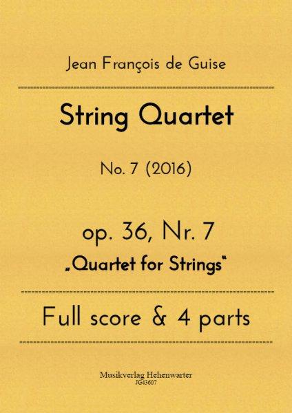 Guise, Jean François de – String Quartet No. 7
