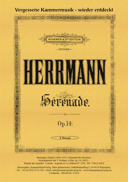 Herrmann, Eduard – Streichquartett mit 3 Violinen, A-Dur, op. 14