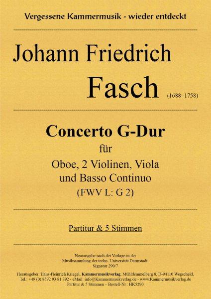 Fasch, Johann Friedrich – Concerto G-Dur (FWV L: G 2)