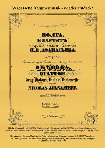 Afanassieff, Nikolai – Streichquartett
