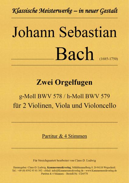 Bach, Johann Sebastian – Zwei Orgelfugen für Streichquartett