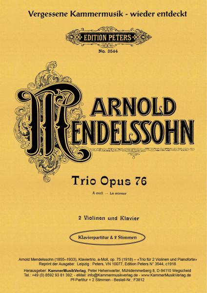 Mendelssohn, Arnold – Klaviertrio, a-Moll