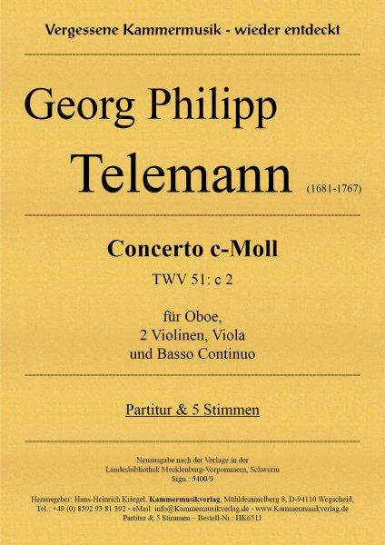Telemann, Georg Philipp – Concerto c-Moll (TWV 51: c 2)