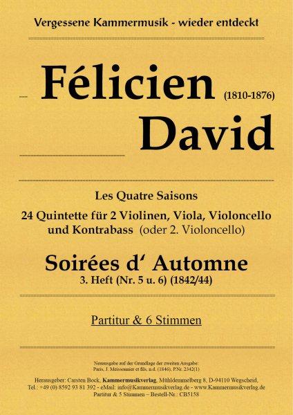 David, Félicien – Soirées d' Automne 3. Heft (Nr. 5 u. 6)