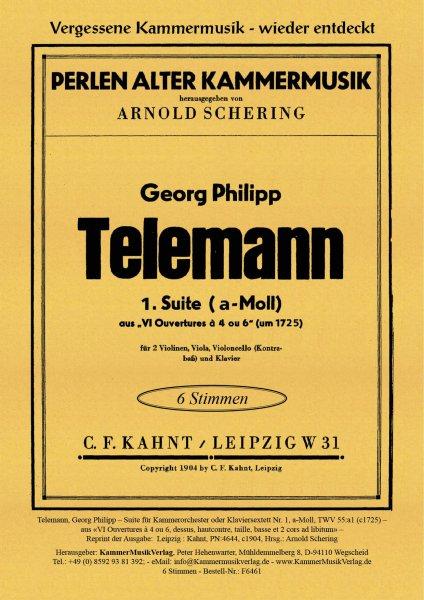 Telemann, Georg Philipp – Suite für Kammerorchester oder Klaviersextett Nr. 1, a-Moll
