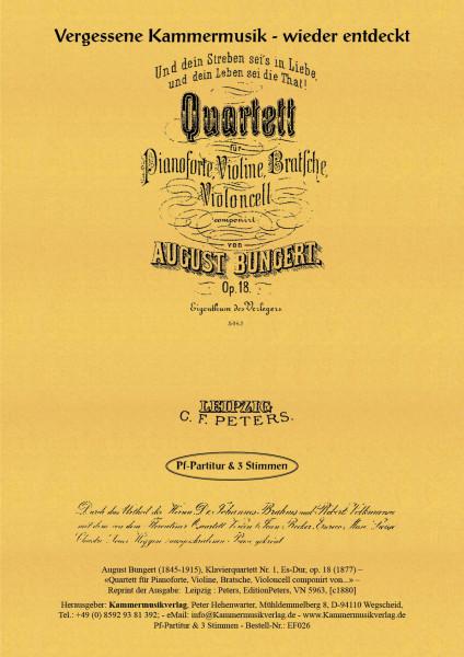 Bungert, August – Klavierquartett Nr. 1, Es-Dur, op. 18