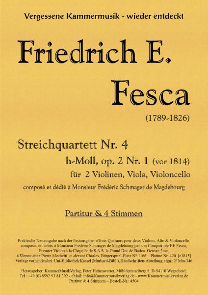 Fesca, Friedrich Ernst – Streichquartett Nr. 4, h-Moll, op. 2-1