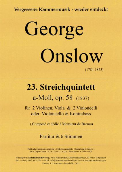 Onslow, George – Streichquintett Nr. 23, a-Moll, op. 58