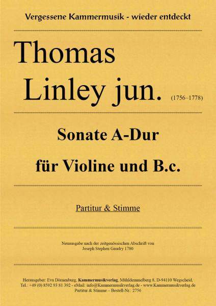 Linley Thomas jun. – Sonate A-Dur für Violine und Basso continuo