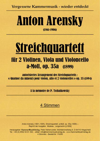Arensky, Anton – Streichquartett, a-Moll