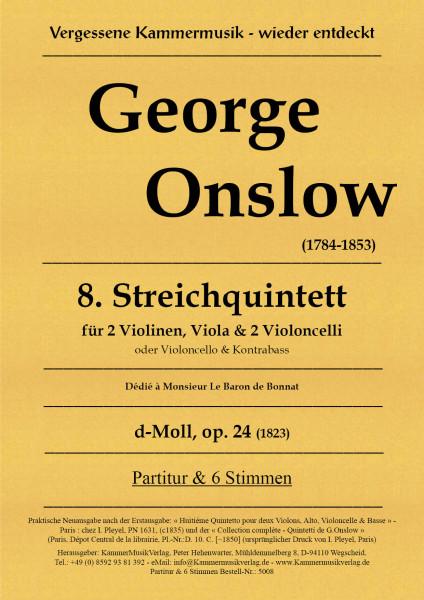 Onslow, George – Streichquintett Nr. 08, d-Moll, op. 24