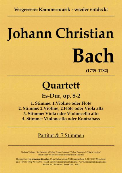 Bach, Johann Christian – Quartett, Es-Dur, op. 8-2