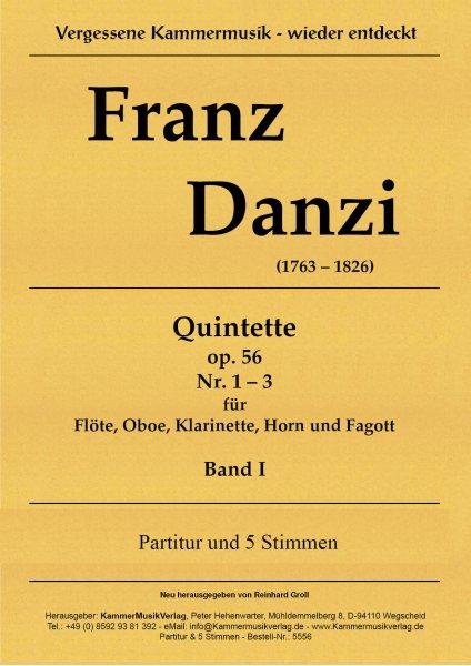 Danzi, Franz – 3 Bläserquintette Nr. 1-3, in B. g, F, op. 56, Nr. 1-3