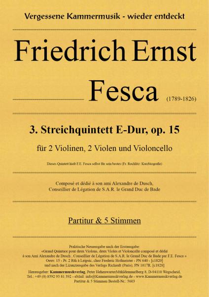 Fesca, Friedrich Ernst – Streichquintett Nr. 3, E-Dur, op. 15