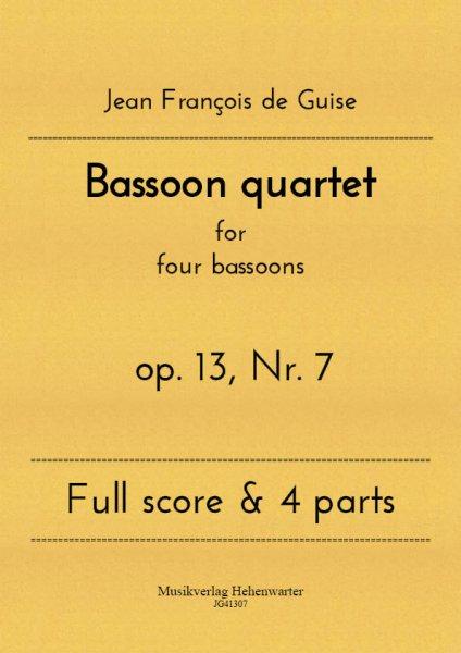 Guise, Jean François de – Bassoon quartet