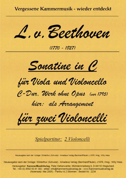 Beethoven, Ludwig van – Sonatine in C-Dur, Werk ohne Opus