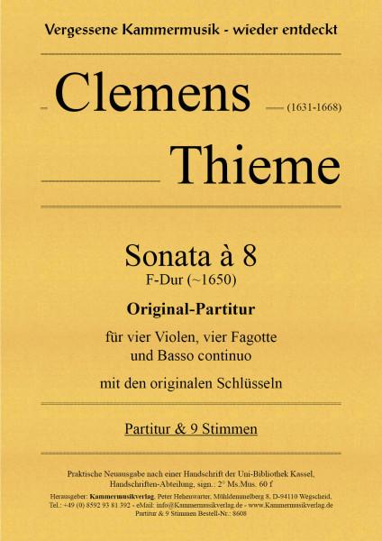 Thieme, Clemens – Sonata à 8, F-Dur – Original-Partitur