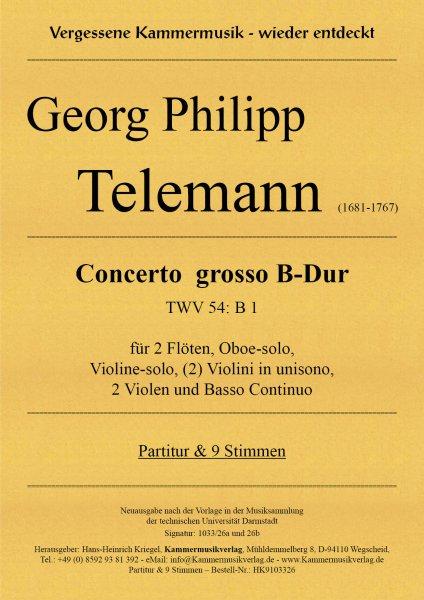 Telemann, Georg Philipp – Concerto grosso B-Dur (TWV 54: B 1)