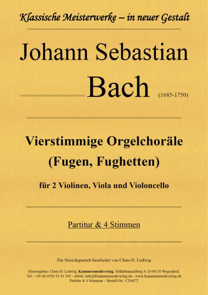 Bach, Johann Sebastian – Vierstimmige Orgelchoräle