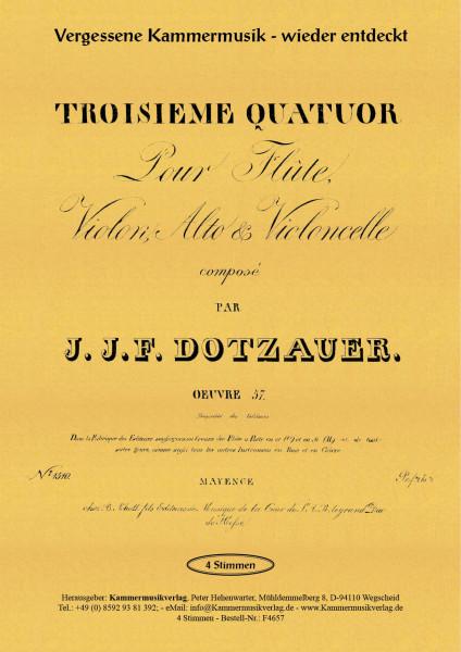 Dotzauer, Justus Johann Friedrich – Flötenquartett Nr. 3, E-Dur, op. 57