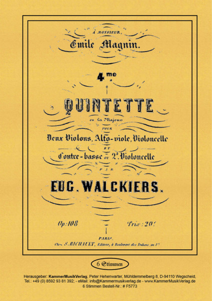 Walckiers, Eugéne – Streichquintett Nr. 4