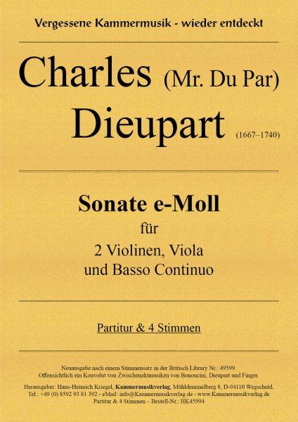 Dieupart Charles – Sonate e-Moll