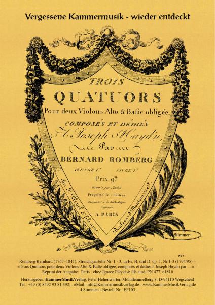 Romberg, Bernhard – Streichquartette Nr. 1 - 3, in Es, B, und D, op. 1, Nr.1-3
