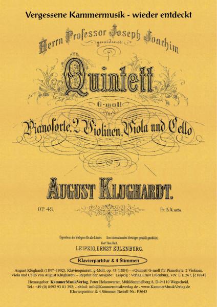 Klughardt, August – Klavierquintett, g-Moll, op. 43