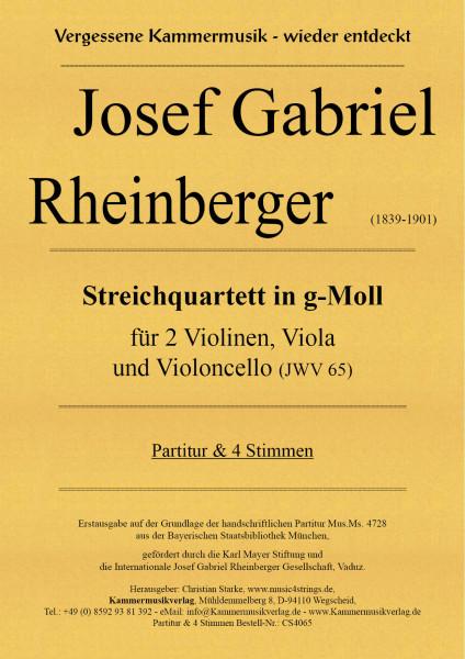 Rheinberger, Josef Gabriel – Streichquartett in g-Moll (JWV 65)