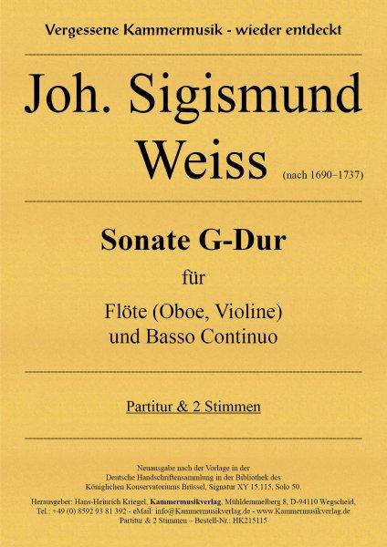 Weiss, Joh. Sigismund – Sonate G-Dur
