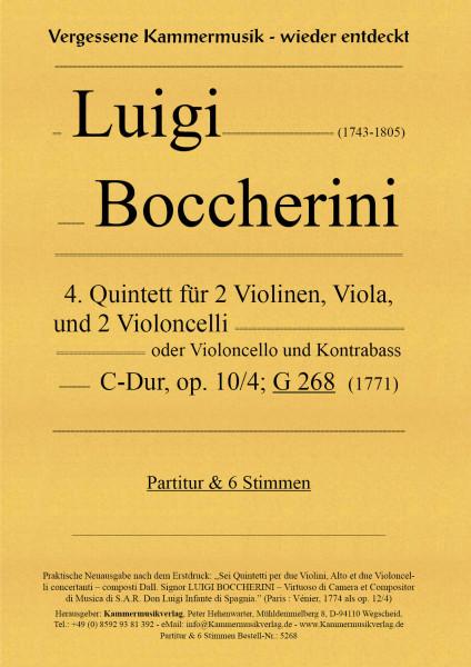 Boccherini, Luigi – 4. Quintett für 2 Violinen, Viola und 2 Violoncelli