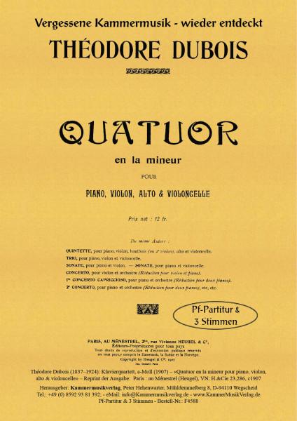 Dubois, Théodore – Klavierquartett, a-Moll für Vl, Va, Vc, Pf