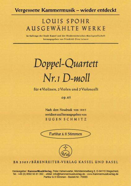 Spohr, Louis – Doppelquartett Nr. 1, d-Moll, op. 65