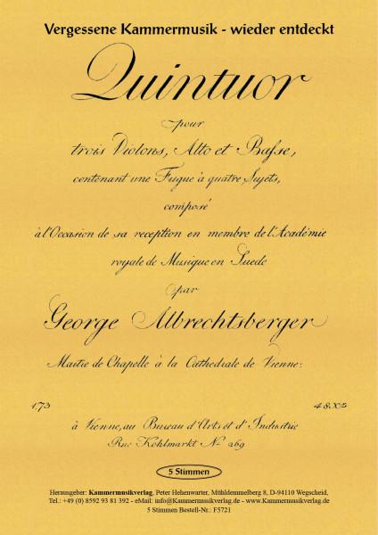 Albrechtsberger, Johann Georg – Streichquintett, C-Dur (mit 3 Violinen), op. 20
