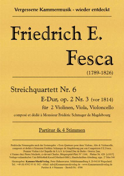Fesca, Friedrich Ernst – Streichquartett Nr. 6, E-Dur, op. 2-3
