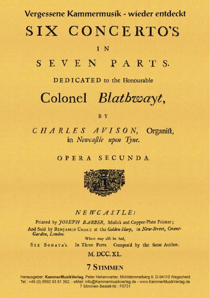 Avison, Charles – Concerti grossi Nr. 1-6