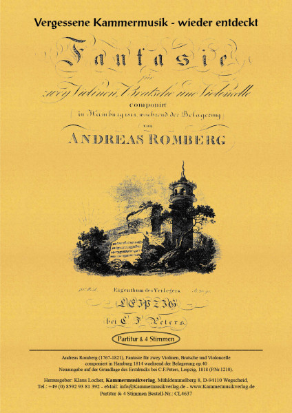 Romberg, Andreas – Streichquartett Nr. 19, c-Moll, op. 40