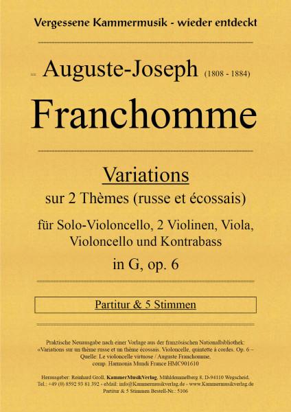 Franchomme, Auguste – Solo-Vc mit Streichquintett, in G, op. 6