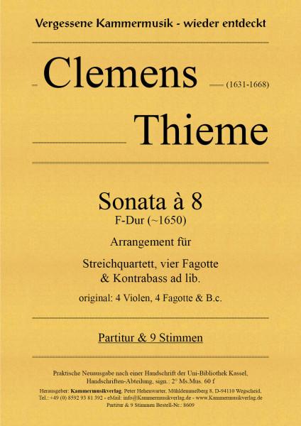Thieme, Clemens – Sonata à 8, F-Dur (~1650) – Arrangement für Streichq. & Bläser